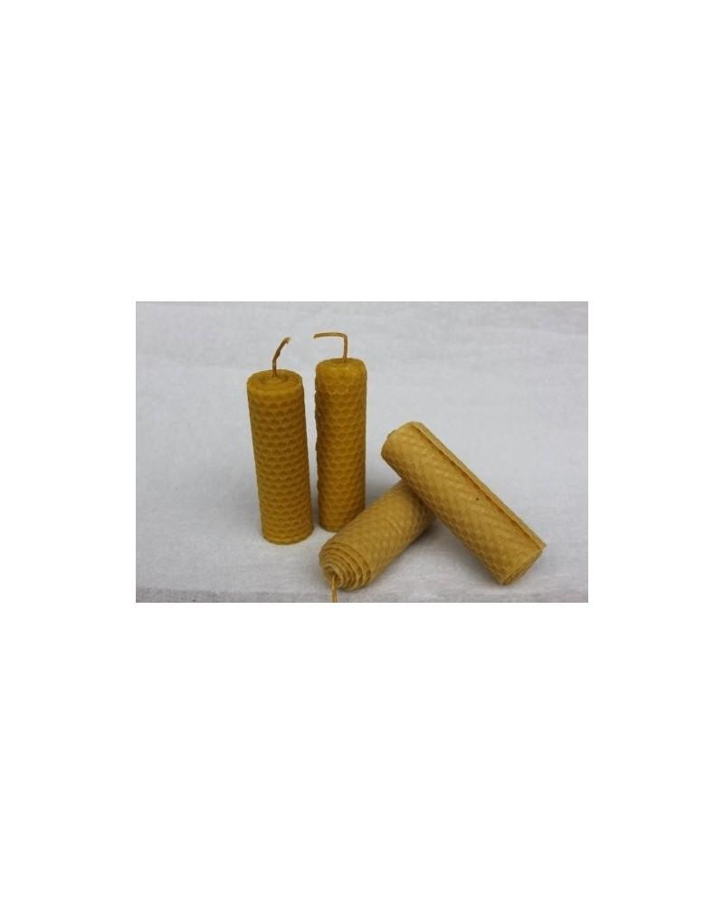 Ručno napravljene svijeće od pčelinjeg voska 4 kom srednja